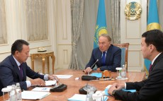 Meeting with Sauat Mynbayev, Chairman of the Board of KazMunayGas JSC