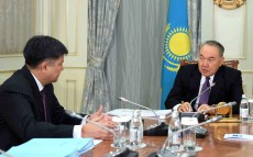 The meeting with the Prosecutor General Zhakip Asanov