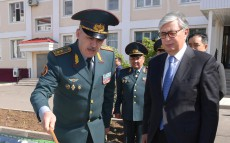 The Head of State Kassym-Jomart Tokayev visits the National Guard's military unit